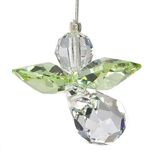Austrian Crystal Guardian Angel Birthstone Suncatcher Peridot Aug WS CGPE