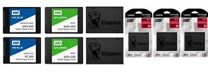 "WD Kingston 120GB 240GB 480GB 500GB 1TB 2TB Internal 2.5"" Solid state Drives SSD"