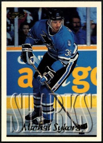 C531 Michal Sykora #105 San Jose Sharks TOPPS 1995-6 hockey sur glace CARTE