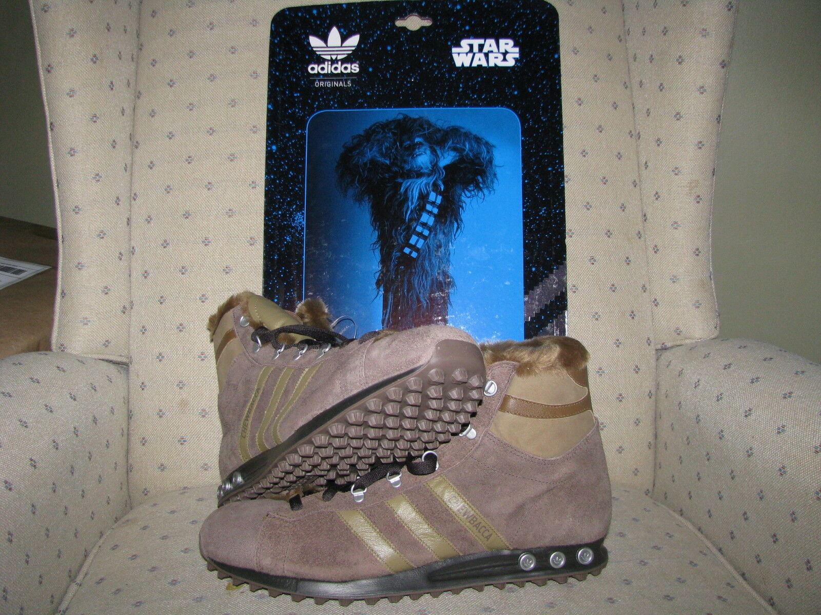 ADIDAS ORIGINALS STAR WARS CHEWBACCA WOOKIES Jogging Hi Han Solo Skywalker Vader