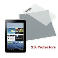 2 X Samsung Galaxy Tab 2 7.0 P3100 p3110 Screen Protectors & Clean Cloth