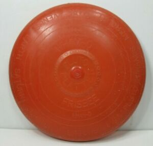 WHAM-O-Pluto-Platter-Frisbee-Disc-1958-Patent-Pending-Red-Planet-Names