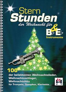 Bb-amp-Eb-Instrumente-Saxophon-Trompete-etc-Noten-Sternstunden-der-Weihnacht