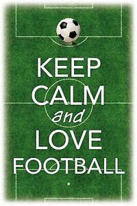 Keep-Calm-and-Love-Football-Tin-Sign-Shield-Metal-Tin-Sign-20-x-30-cm-CC0468