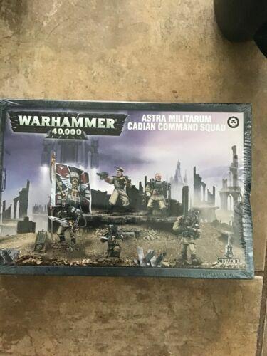 Cadian Command Squad Astra Militarum Imperial Guard Warhammer 40K NIB Flipside
