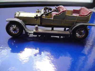 Matchbox Silver Ghost Made In England By Lesney GrÜn-gold Wir Nehmen Kunden Als Unsere GöTter Rolls Royce 1906