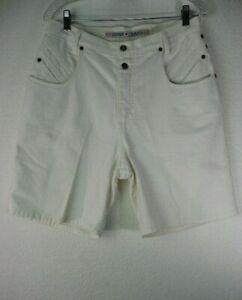 Vintage-Zena-Jean-White-Women-039-s-Shorts-Size14