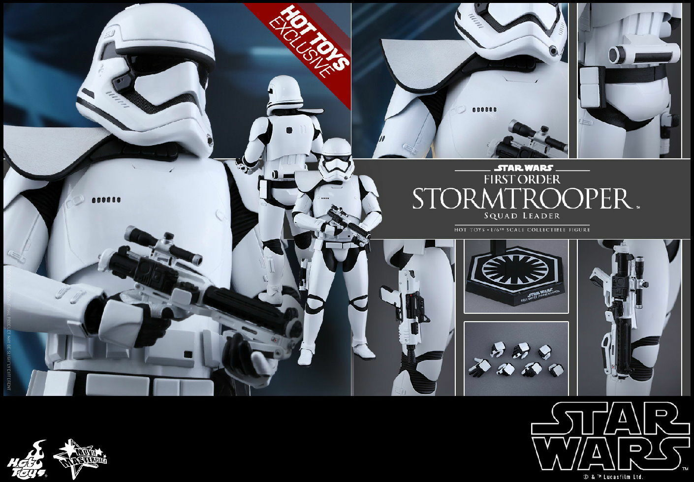 Hot Toys 1/6 STAR WARS MMS316 First Order Stormtrooper Squad Leader CHEAP MINT