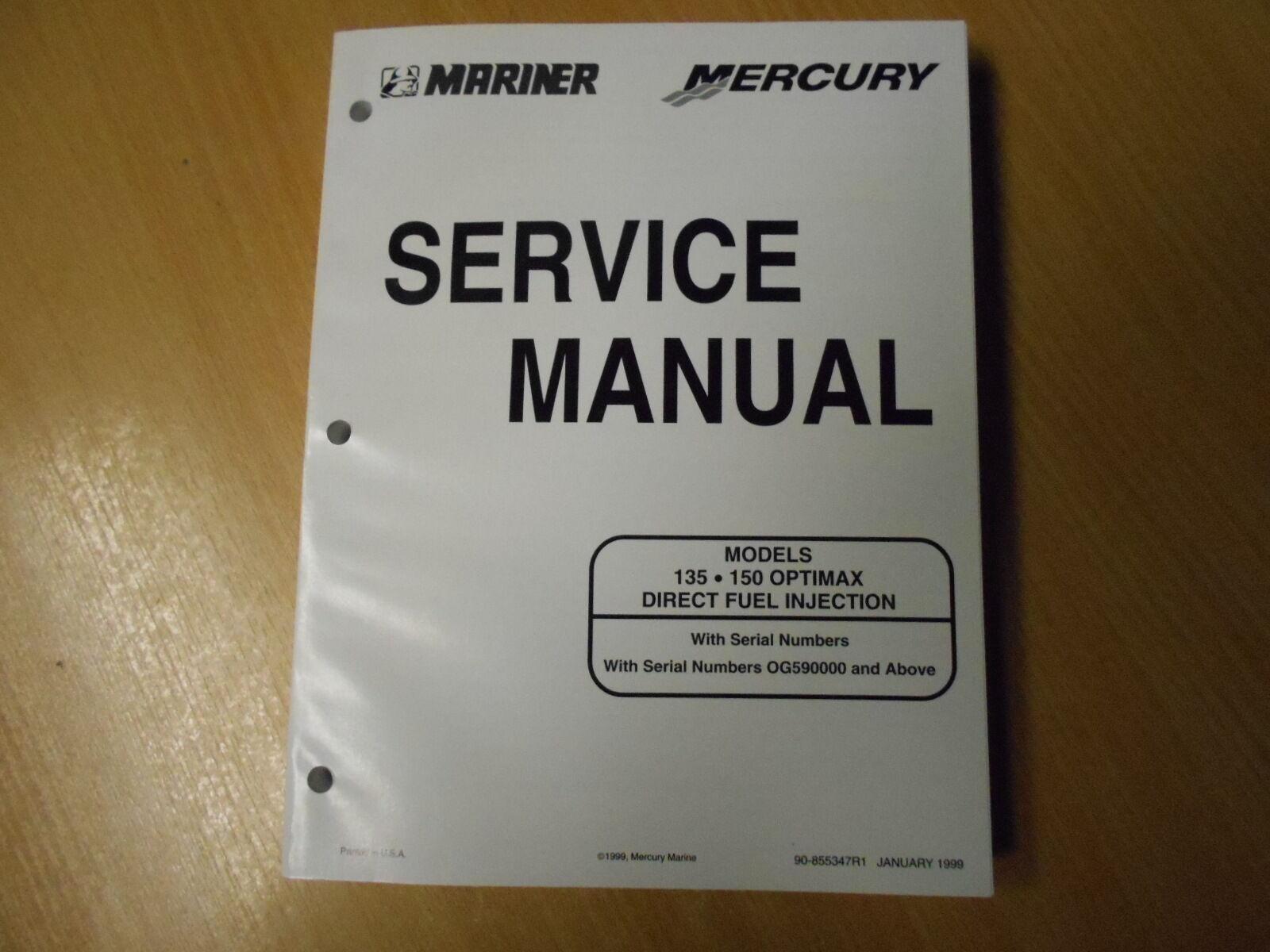 Werkstatthandbuch Service manual  Mariner Mercury 135 / 150 DFI OptiMax