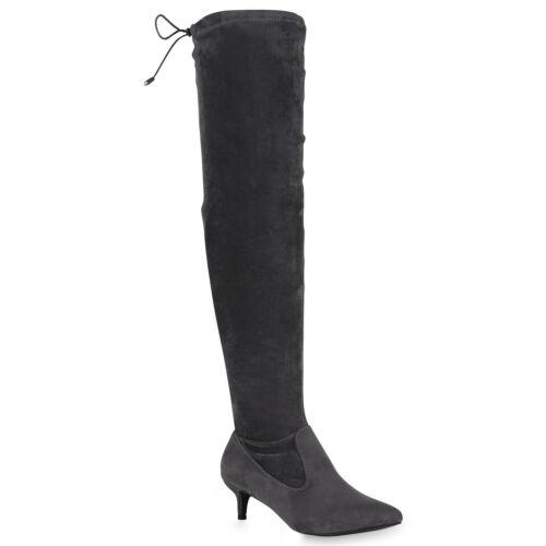 Schuhe Gefütterte Overknees Stilettos 819264 Heels Ketten Stiefel Damen W7P0nqwBw