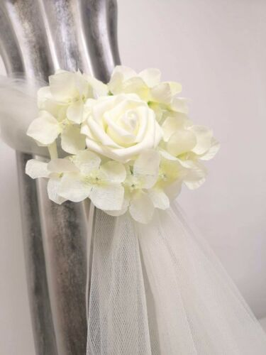 h Lots Of  Colours 20 X Wedding  Church Pew Ends Tulle Bows Flower Decoration.