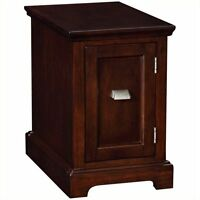 Leick Furniture End Table-printer Stand In A Chocolate Cherry Finish on Sale