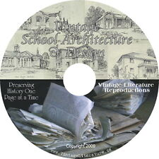 Vintage School Architecture Blueprints & Interior Design Books on DVD