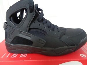 reputable site b567f 634fa Image is loading Nike-Flight-Huarache-GS-705281-009-Youth-Trainers-