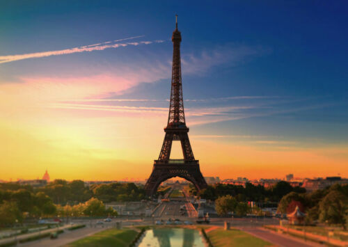 A0 A1 A2 A3 A4 Eiffel Tower at Dawn Landscape Large Poster Wall Art Print