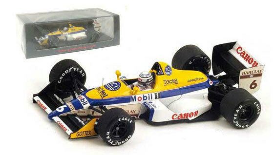 SPARK S4028 WILLIAMS FW12 Judd   6 MONACO GP 1988-RICCARDO PATRESE scala 1/43