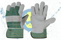 12 Paar Arbeitshandschuhe Rindspaltleder Handschuhe Schutzhandschuhe Gr.10,5 NEU