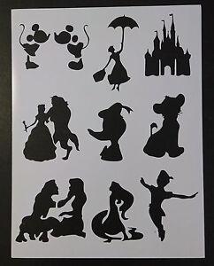 "Disney Mary Poppins Duck Peter Pan + 8.5"" x 11"" Custom Stencil FAST FREE SHIP"