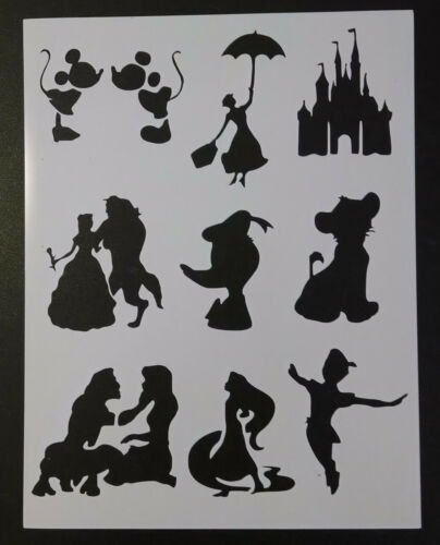 "Disney Mary Poppins Duck Peter Pan 8.5/"" x 11/"" Custom Stencil FAST FREE SHIP"
