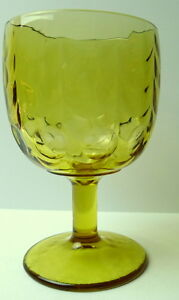 Amber-Glass-Thumbprint-Drinking-Goblet