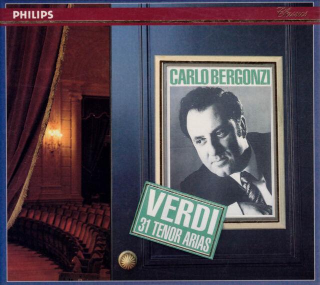 CARLO BERGONZI: VERDI 31 Tenor Arias. 3 CDs, wie neu