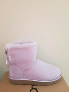 4076f28cccb Details about Ugg Australia Women's Mini Bailey Bow II Metallic Boots Size  7 NIB