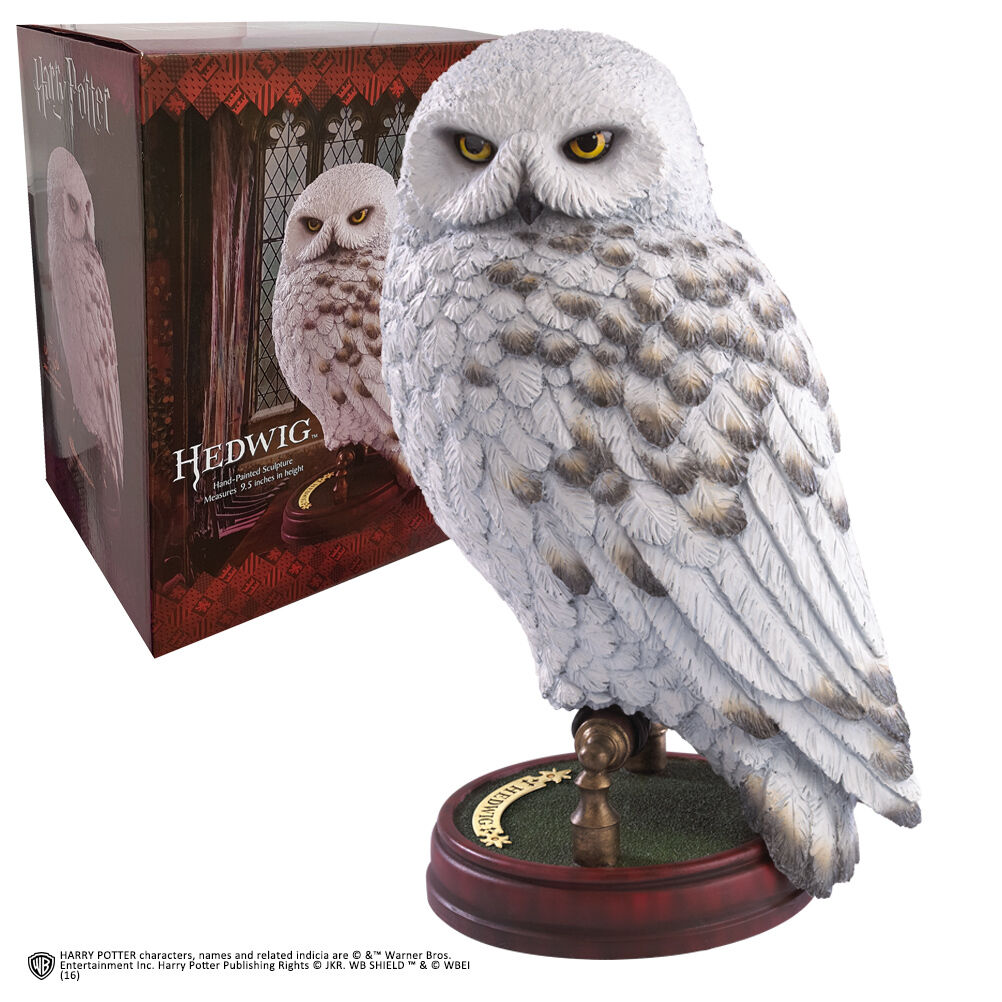 HARRY POTTER HEDWIG - MAGICAL CREATURE 9.5  STATUE RESIN (24cm) NOBLE COLLECTION