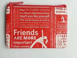 Lululemon Red & White Manifesto Gift Card Holders Coin Purse Brand ...