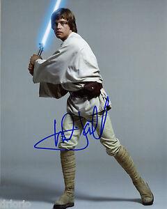 reprint - mark hamill star wars luke skywalker autographed signed photo copy | ebay