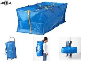 Ikea Borse Ufficio : Ikea frakta trunk for trolley backpack large blue zipped bag 76l
