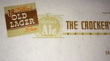 Webber's Beer Letterhead Crockery City East Liverpool Ohio 1930s Coca Cola Btlg
