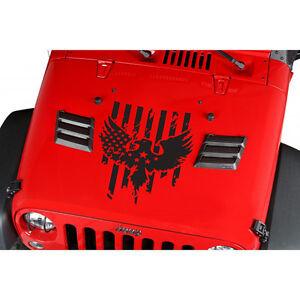 Car Vinyl Wrap For Sale >> Jeep Car Truck Suv Hood Eagle Army Stars Stripes USA Flag ...
