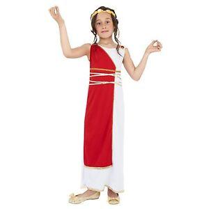 nina-Venus-Romano-Griego-Diosa-ATHENA-Rojo-Toga-Disfraz-Traje-Libro