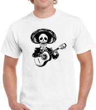 Men/'s Day Of The Dead,Sombrero,Guitar,Skeleton,Guitar T-Shirt P116