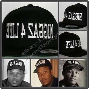 2c680070d Details about NEW Niggaz 4 Life EFIL4ZAGGIN Black Snapback Hat Cap NWA Dr.  Dre Eazy E Compton
