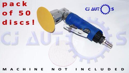 75mm Mini Sander 3 Inch Air DA ABRASIVE SANDING SAND PAPER DISCS P1500 Small x50