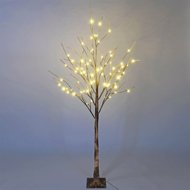 Led Lighted Birch Tree Warm White Christmas Decoration Indoor Outdoor Use