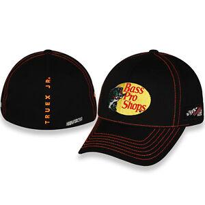 Checkered Flag Sports NASCAR Bass Pro Martin Truex #19 Black and White Cap//Hat with Velcro Closure