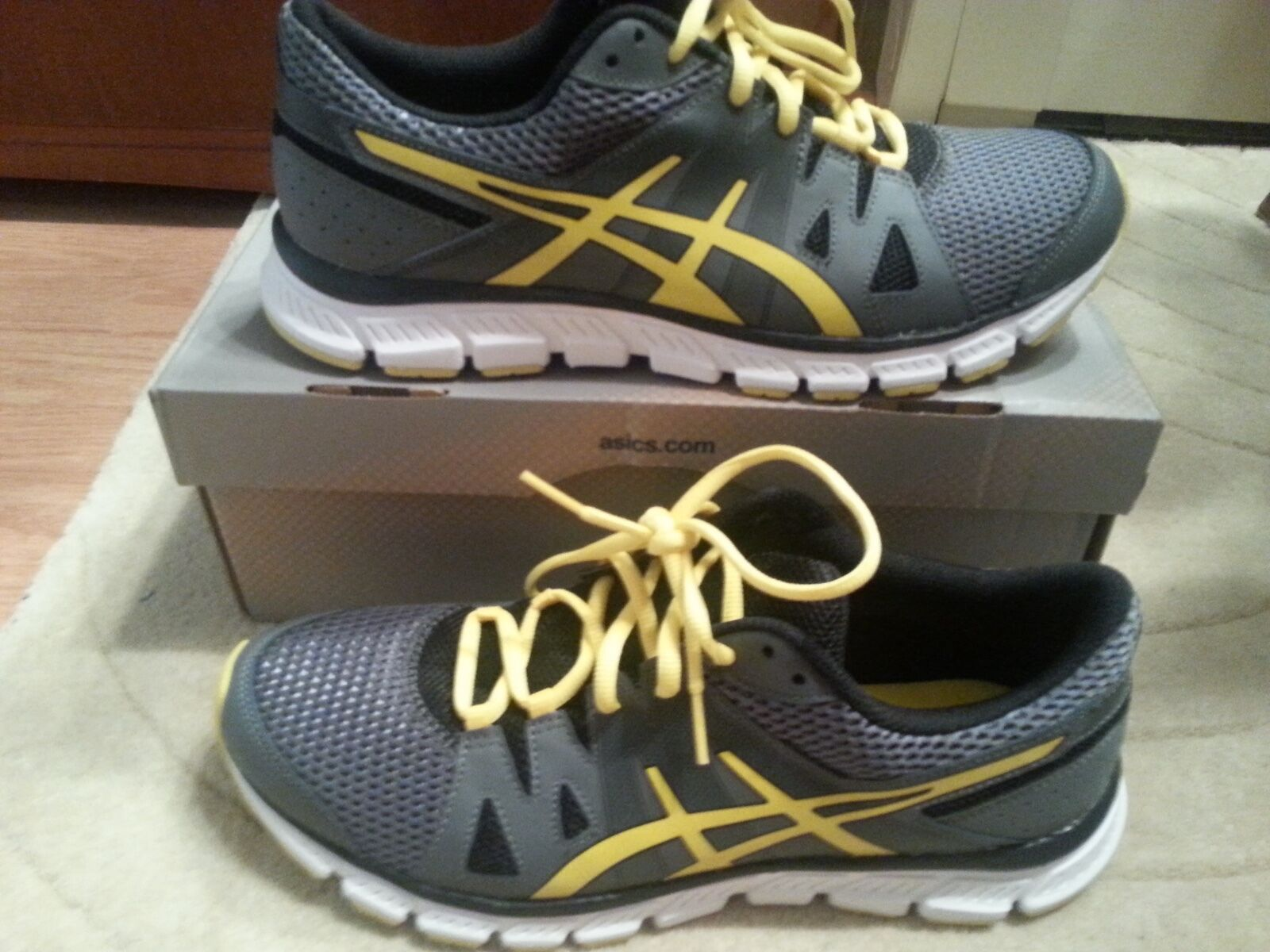 Asics Gel Unifire TR Training Shoe Charcoal Flash Yellow and Black, Size 10