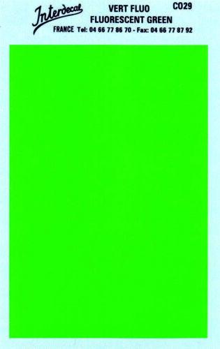 verde tagesleuchtfarbe co29 decal naßschiebebild Arco monocromática 95 x140 mm