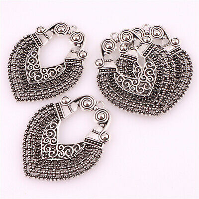 22942-5PCS  Antique Silver Filigree Charms Connectors Pendant Jewelry Findings