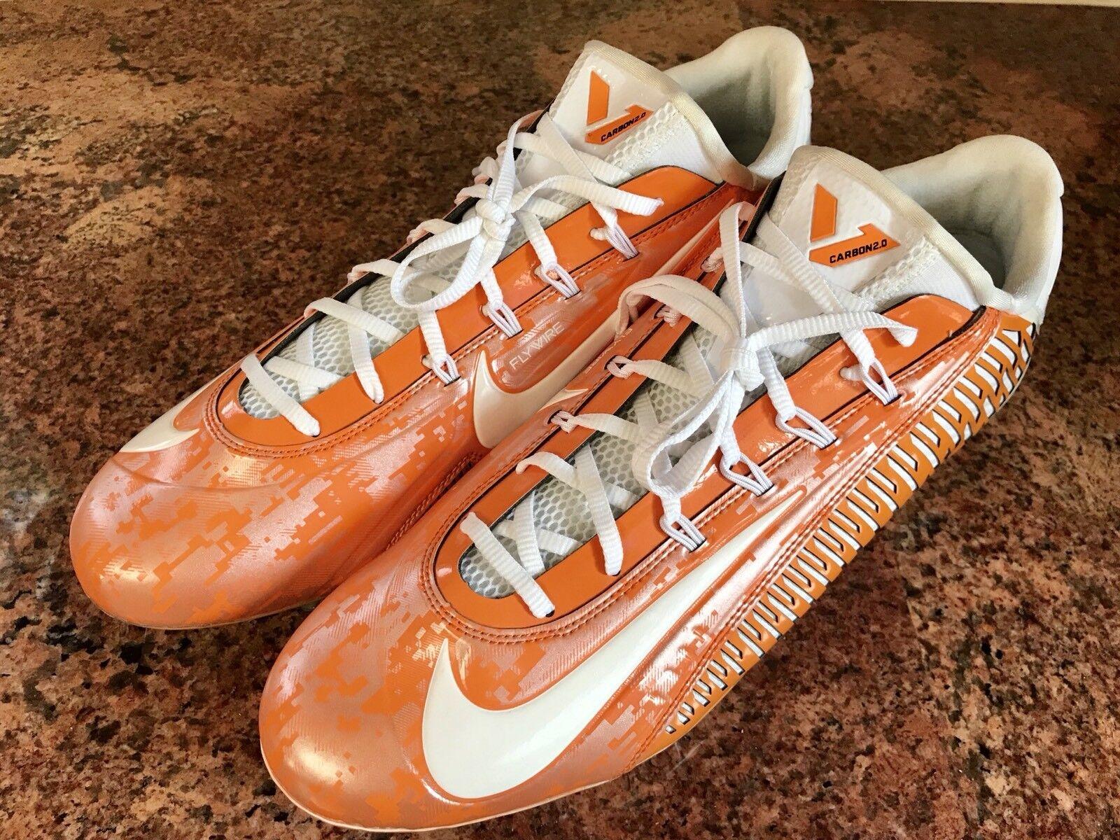 Nike vapore carbonio nikeid football elite scarpe arancione / bianco Uomo sz