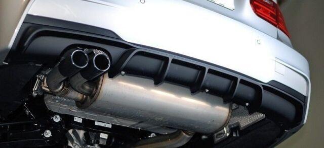 F M-sport exhaust diffuser M-Pack M tech sport diffuzer Rear bumper Spoiler lip