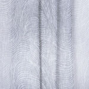 Light Grey Herringbone Linen Voile textured Weave Curtain Fabric 3m wide Sheer