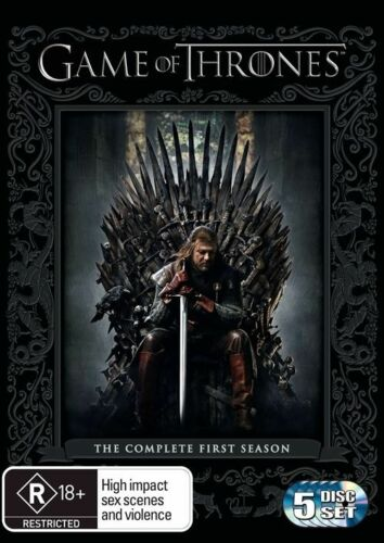 1 of 1 - Game Of Thrones : Season 1 (DVD, 2012, 5-Disc Set) New & Sealed