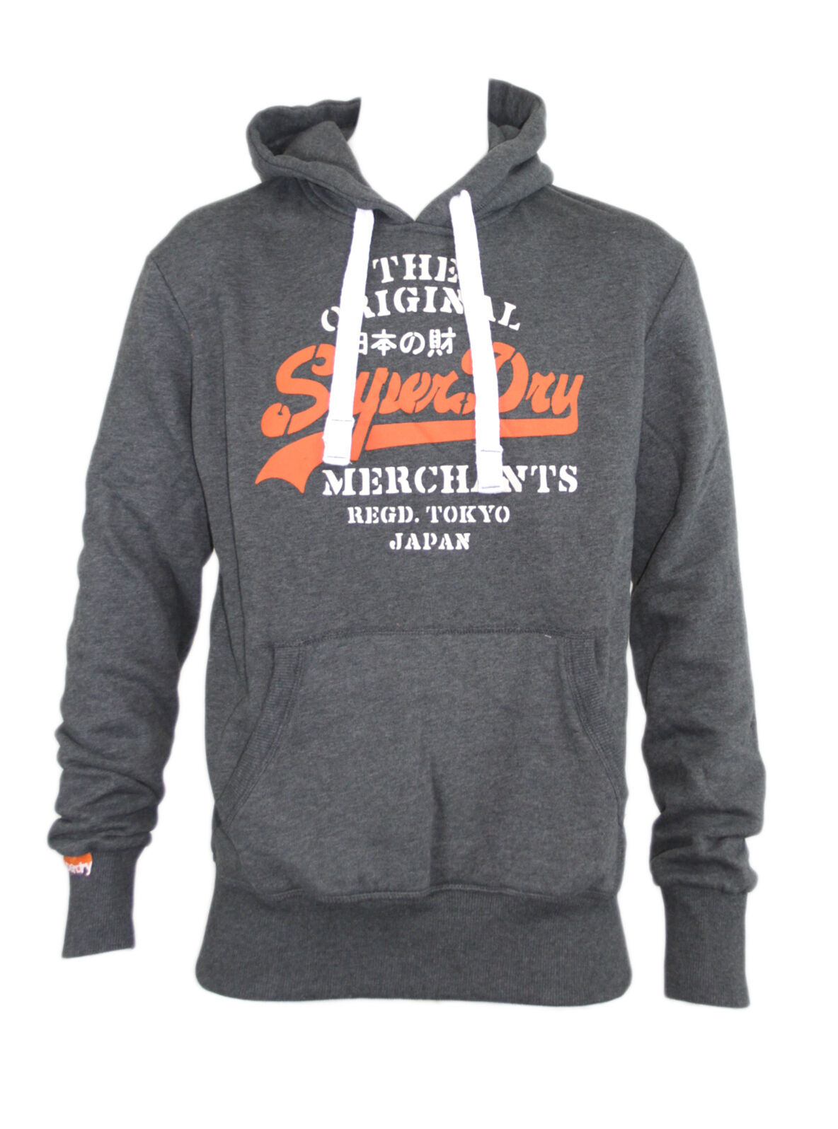 Superdry Merchants Stencil  Herren Slim Fit Pull Over Top Sweater Hooded Hoodies