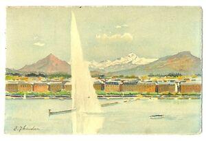 CPA-Suisse-Lemanique-Geneve-le-Jet-d-039-eau-carte-illustree