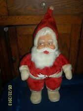 THE RUSTON COMPANY CO VINTAGE RUBBER FACE FACED SANTA CLAUS PLUSH DOLL COCA COLA