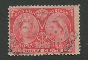 CANADA-53-USED-JUBILEE-SQUARED-CIRCLE-CANCEL-034-WINDSOR-034