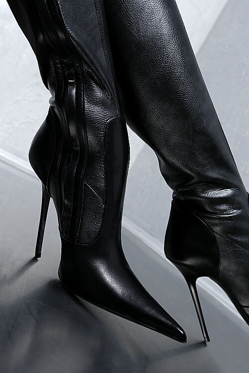 HAND POINTY MADE IN ITALY DAMEN POINTY HAND STRETCH Stiefel HIGH HEELS G69 LEDER STIEFEL 35 cd6839